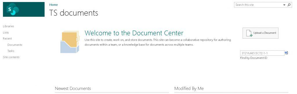 Document center site in SharePoint