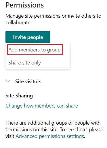 Add user to SharePoint online site