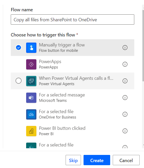 copy files from SharePoint site to OneDrive