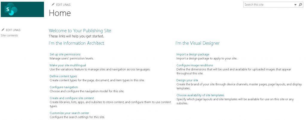 Publishing portal site