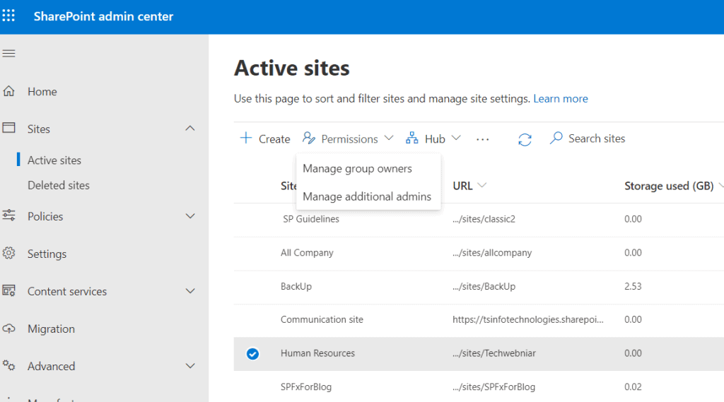 add and remove site collection administrator