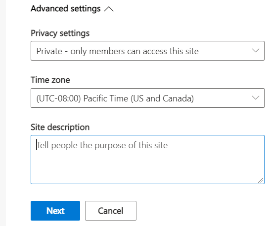 create modern team site collection sharepoint online