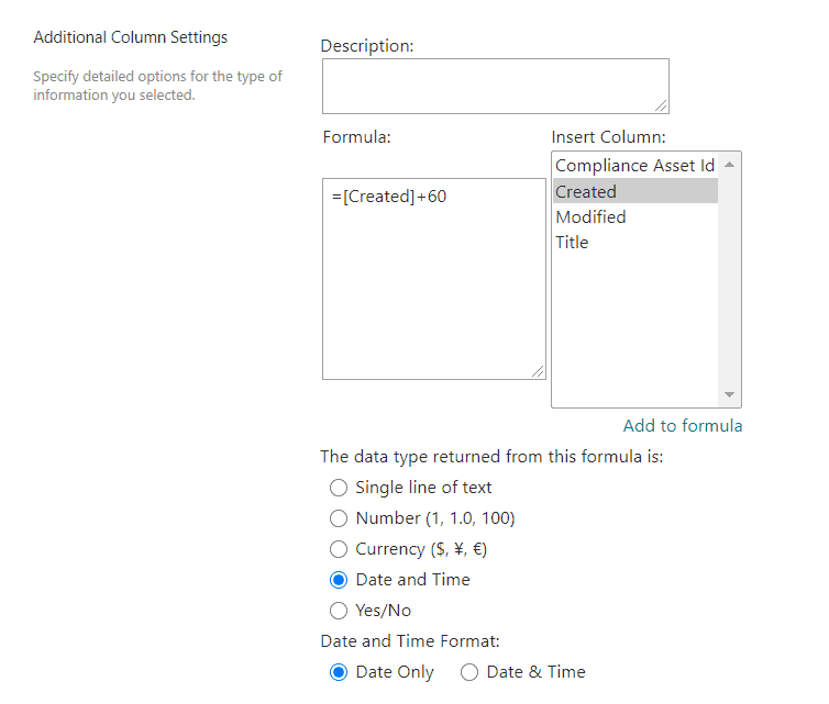 How to create a calculated column in SharePoint List or Library
