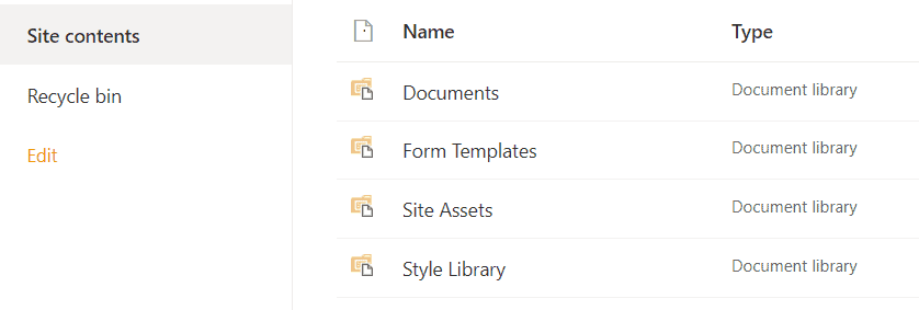 SharePoint site assets library