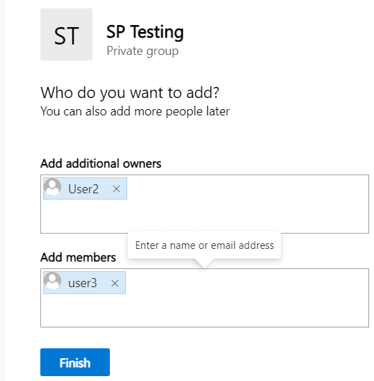 create Modern team site in SharePoint site collection