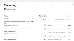Create site page in SharePoint online