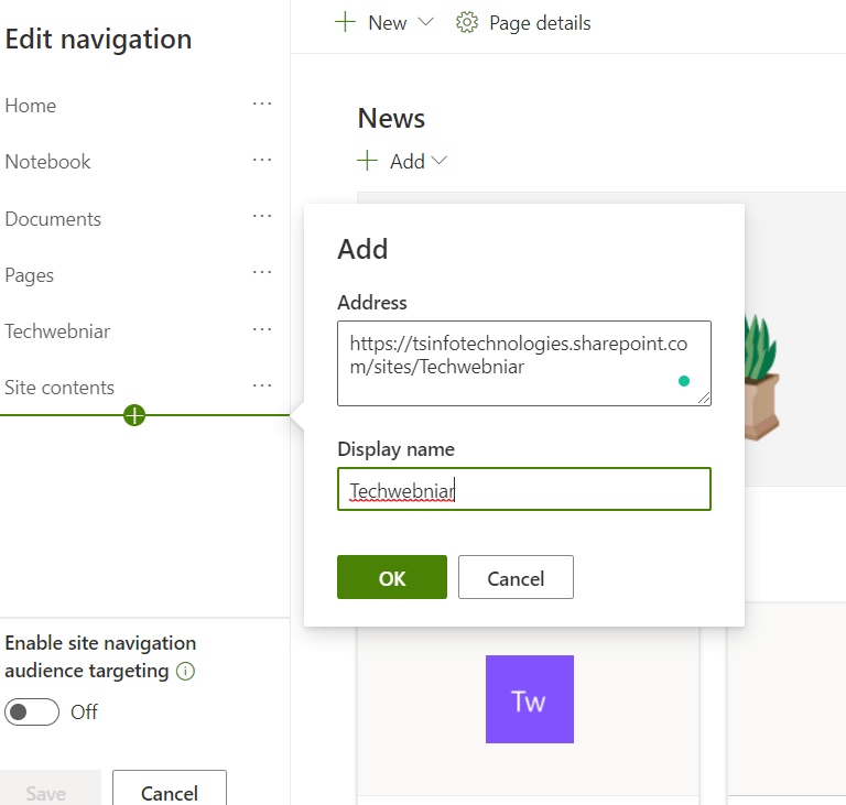 Add parent site navigation to the subsites in SharePoint