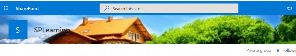 Add background image to the SharePoint Modern Site