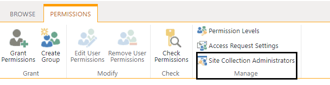roles of a SharePoint site collection administrator