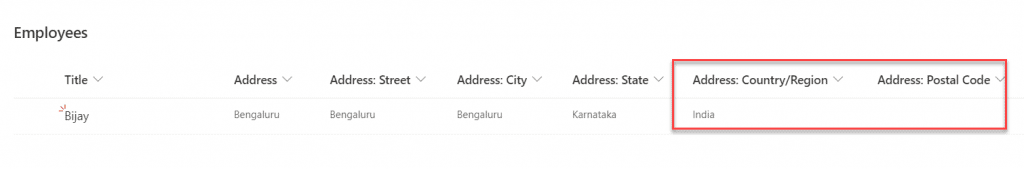 Add additional attributes in location column in sharepoint online