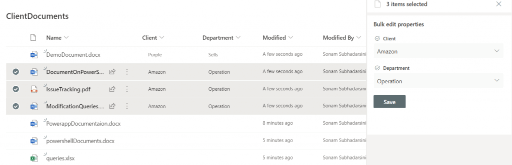 add metadata to SharePoint online document library