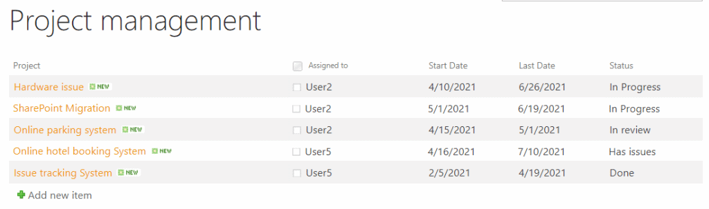 SharePoint online list view styles