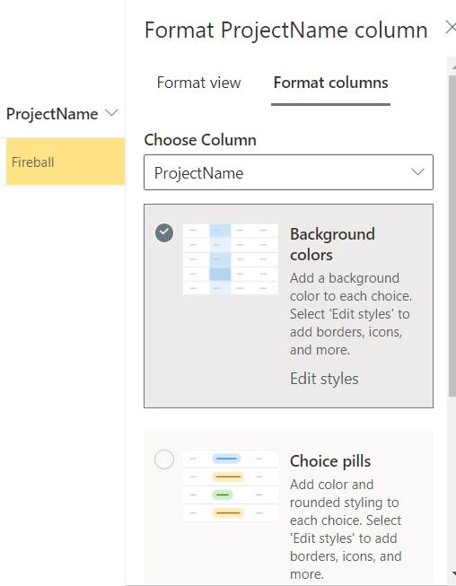 Format SharePoint Choice column