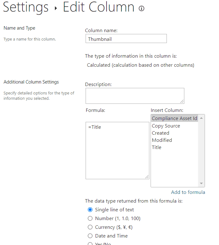 view thumbnails in the document library SharePoint