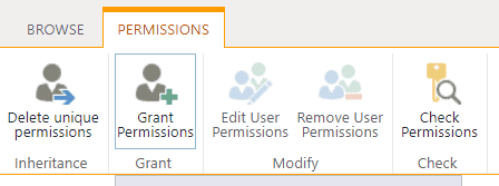 Grant permission in SharePoint list
