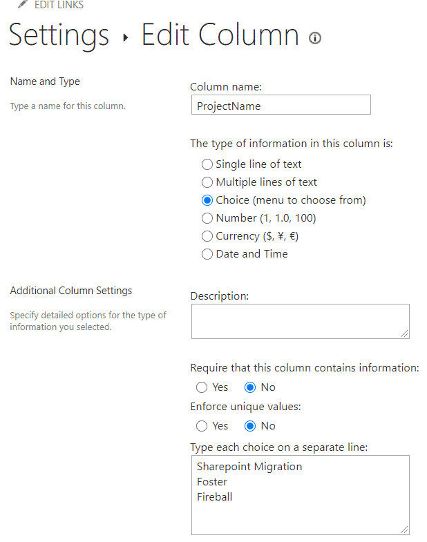 sharepoint document library choice column
