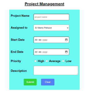 HTML form design examples with code