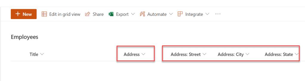 sharepoint online list location column