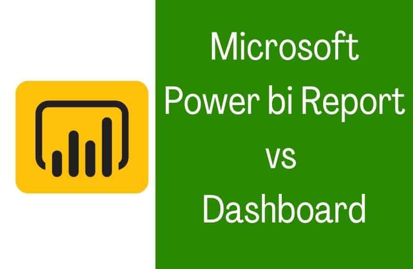 Power bi report vs dashboard