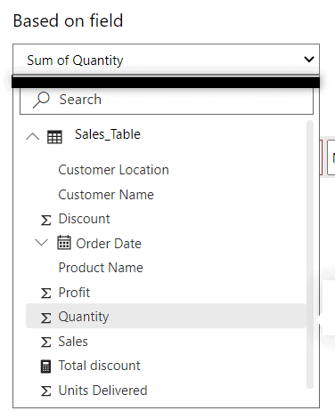 power bi conditional formatting based on field value