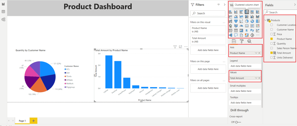 How do I create a dashboard using Power BI in Excel