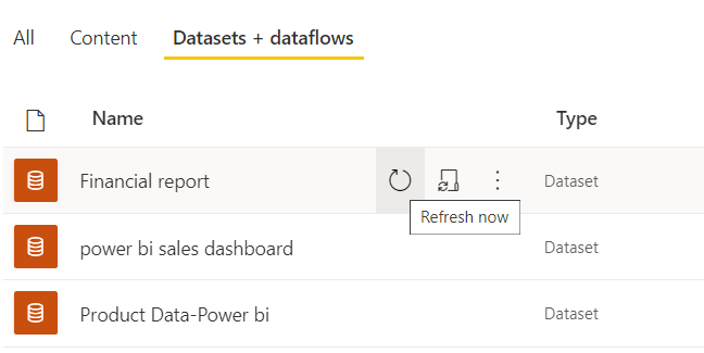 Data refresh in power bi