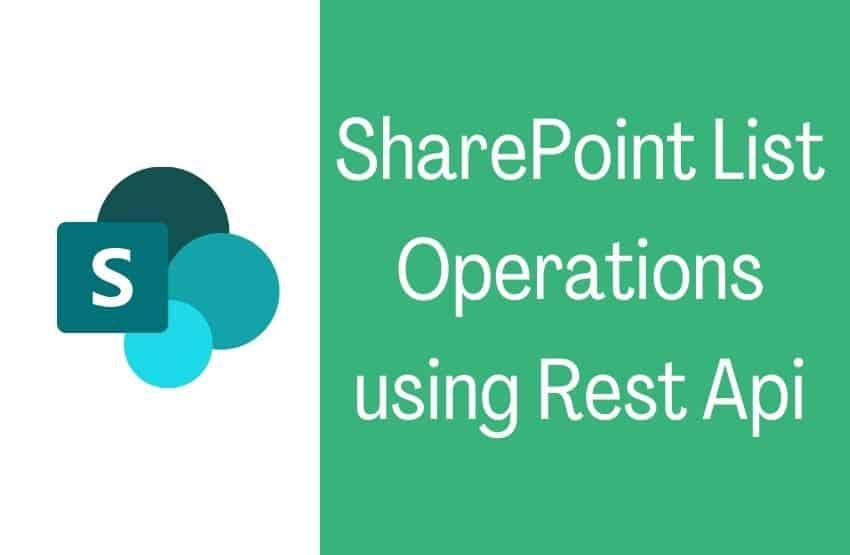 sharepoint list operations using rest api