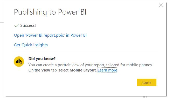 Publish Report On Power Bi Service