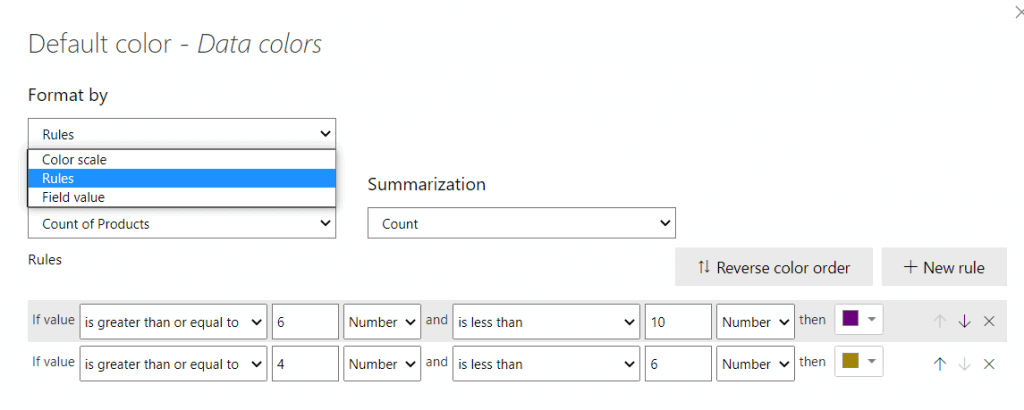 How to do Rules-based Conditional format on Power BI