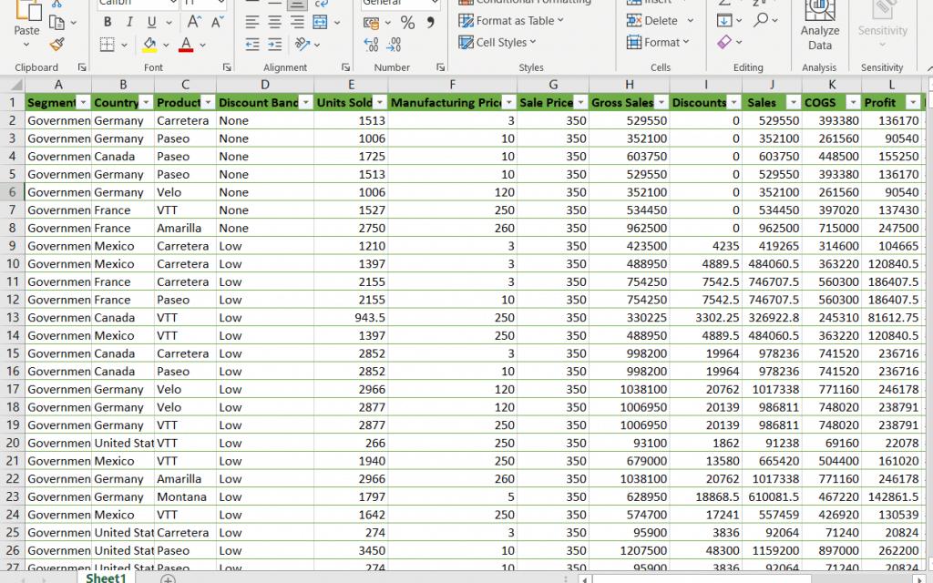 microsoft Power bi desktop export table to excel