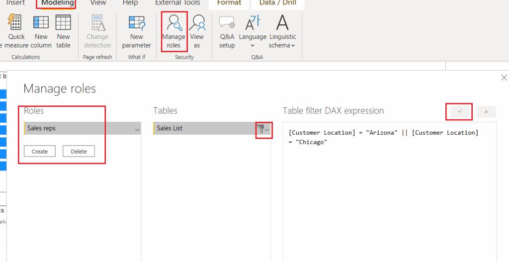 Microsoft power bi row level security