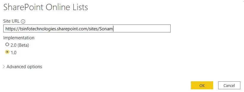 How do I Connect SharePoint data through URL