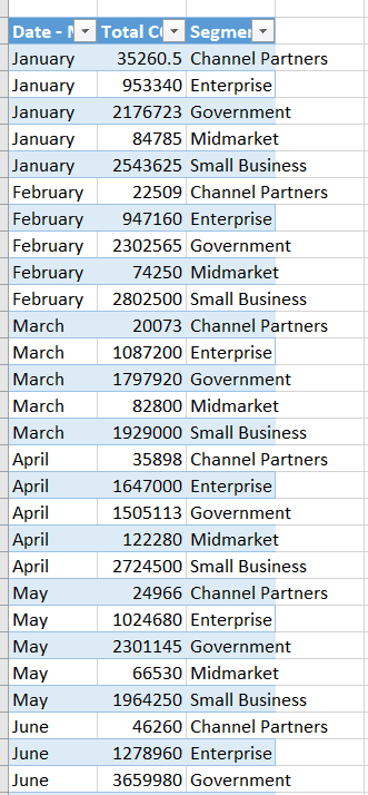 Export data from power bi report