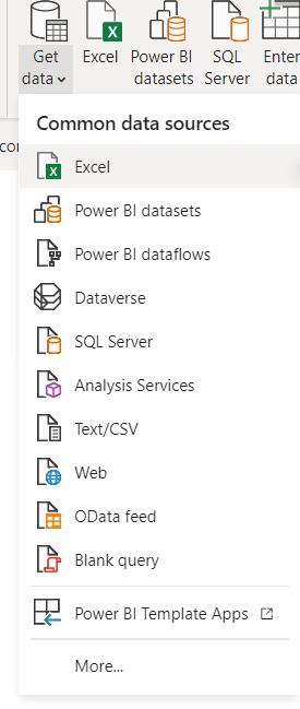 Get data in power bi desktop