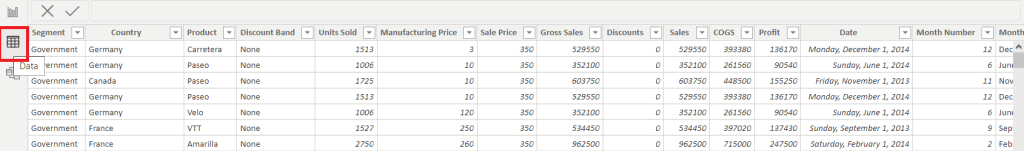 How to check Loaded Data on Power BI