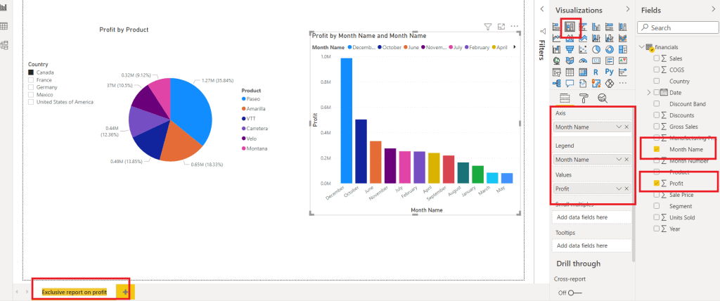 How to create stacked bar chart on Power BI