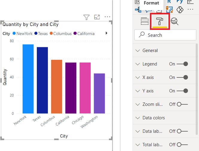 Power BI Stacked Column chart formatting