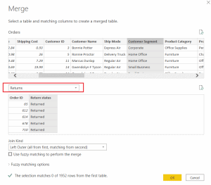 power bi combine columns from two tables