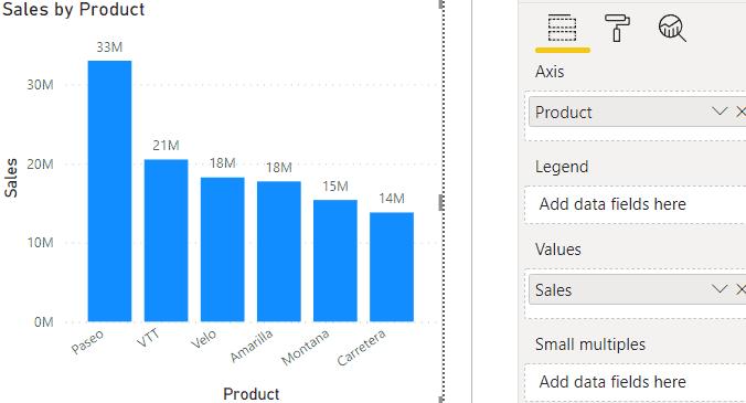 power bi column chart spacing