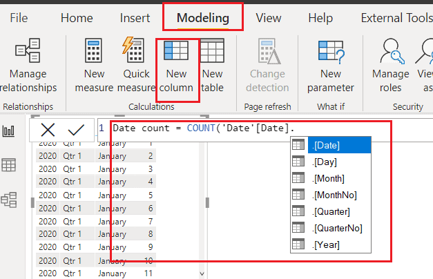 How does power bi Auto date/time work