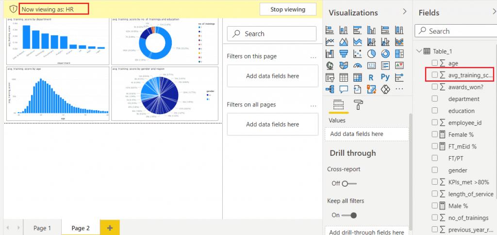 column level security in Power bi desktop