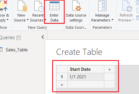 Power bi creates a date table in the power query