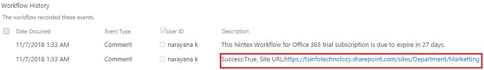 create site nintex workflow office 365