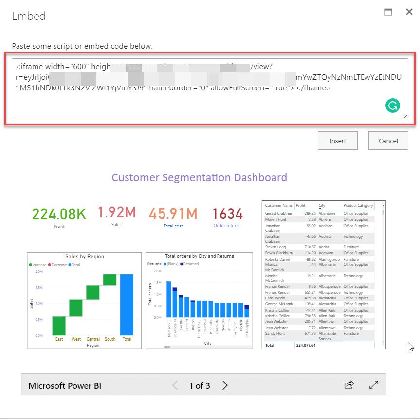 publish power bi report to sharepoint