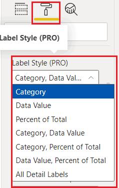 label style in power bi