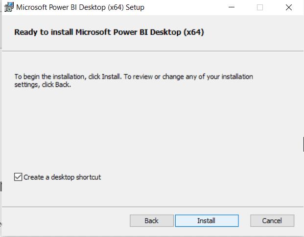 microsoft power bi desktop install