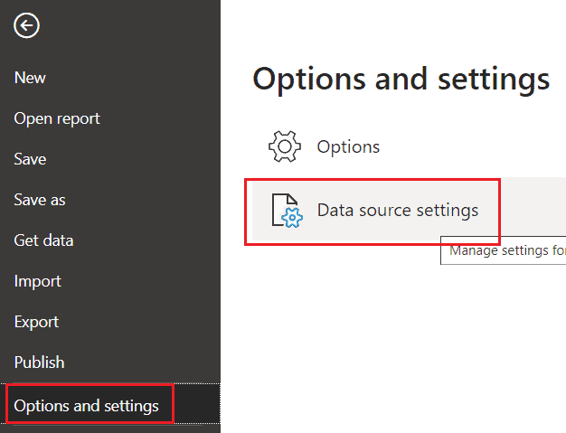 How to change data source in power bi