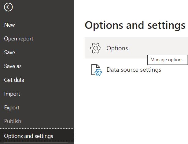 How do I enable export data in power bi?