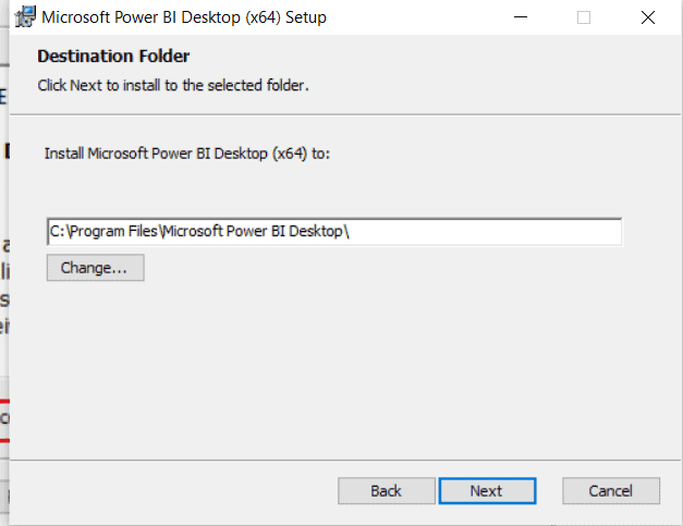 Power bi desktop installation