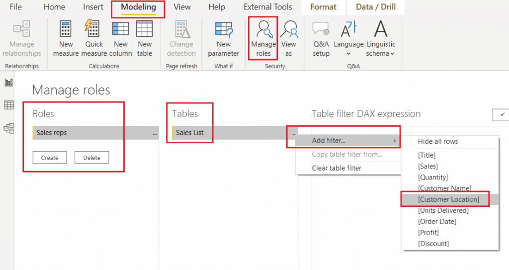 row level security in power bi desktop